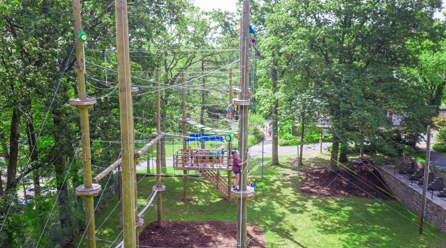 Aerial of the Louise adventure park