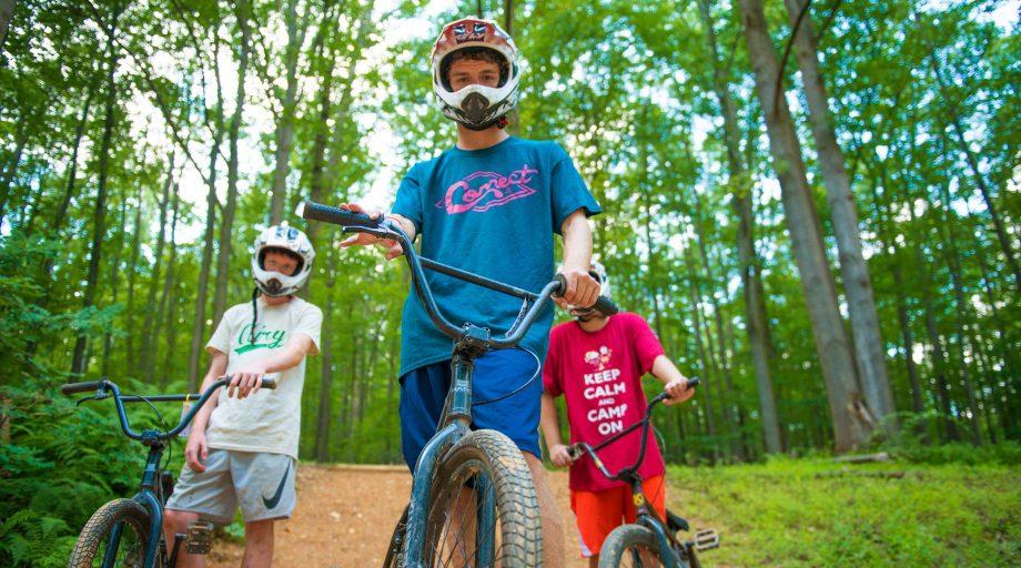 Camper bmx biking