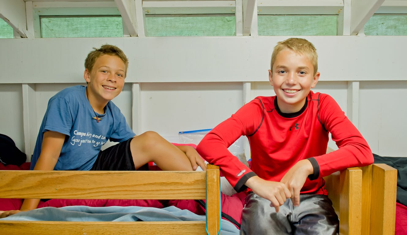 Airy campers in bunk