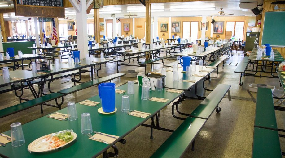 Interior of Airy dining hall