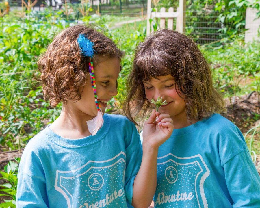 Louise campers gardening