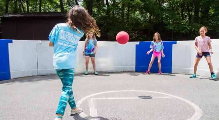 Girls playing gaga
