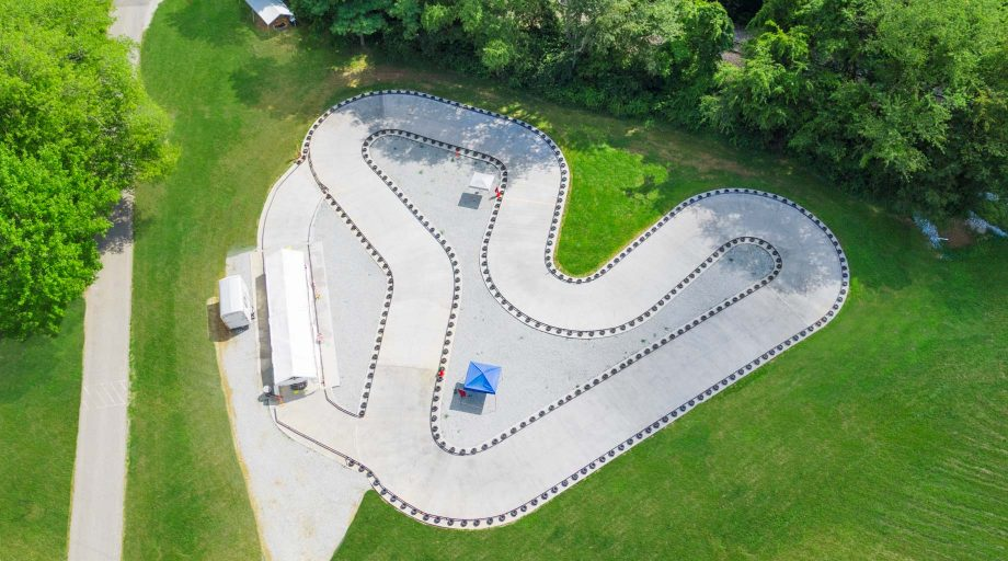 Aerial of Airy go-karts