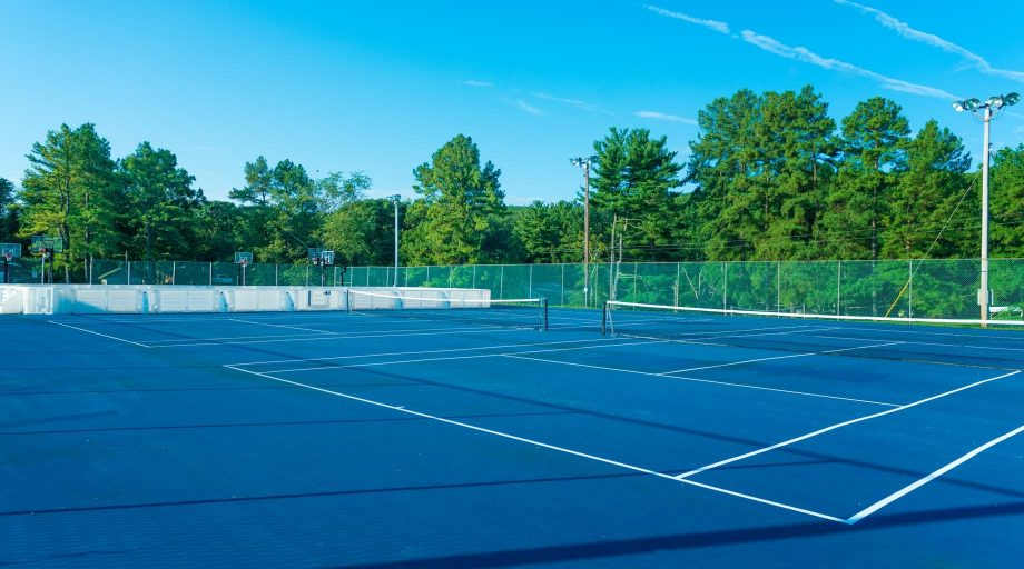 Airy tennis courts