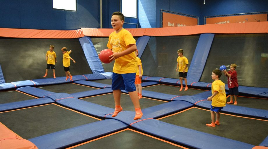 Airy campers at a trampoline park